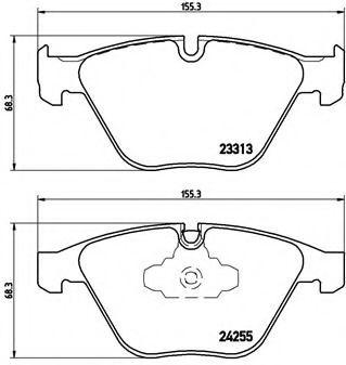 Гальмівні колодки дискові перед. BMW 3 (E90/E90N) 320d 05-/X1 (E84) 09- BREMBO P06055
