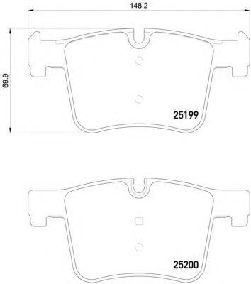 Тормозные колодки дисковые  арт. P06075