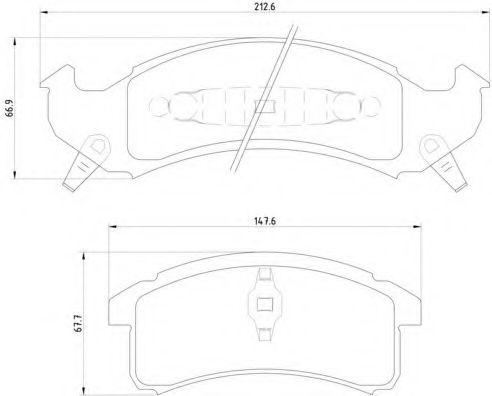 Тормозные колодки дисковые  арт. P09002