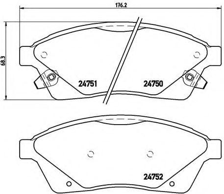 Тормозные колодки дисковые  арт. P09010