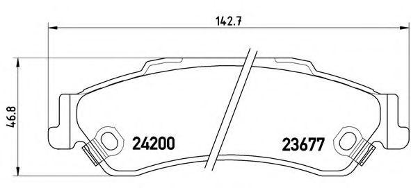 Комплект тормозных колодок, дисковый тормоз  арт. P10002