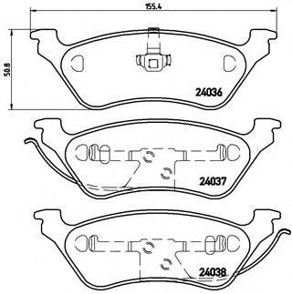 Тормозные колодки Brembo  арт. P11014