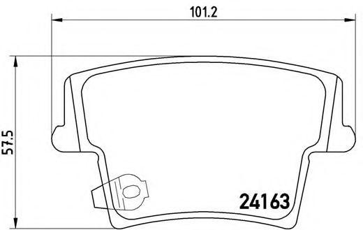 Тормозные колодки Brembo  арт. P11018