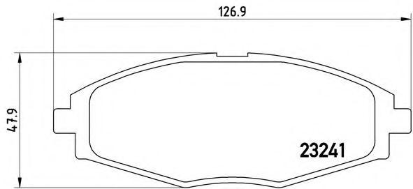 Тормозные колодки  дисковые, к-кт.  арт. P15006