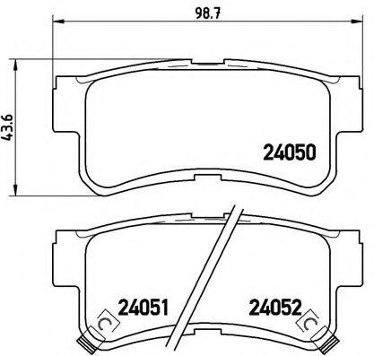 Гальмівні колодки дискові зад. Daewoo Musso 97- BREMBO P15009