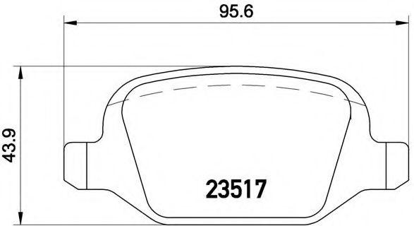 Колодки гальмівні дискові  арт. P23065