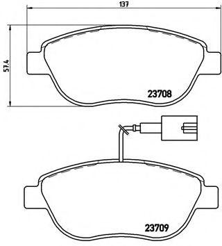 Тормозные колодки Brembo  арт. P23087