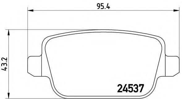 Тормозные колодки Brembo BREMBO P24075