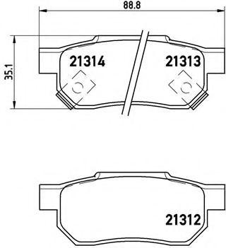 Комплект тормозных колодок, дисковый тормоз  арт. P28017