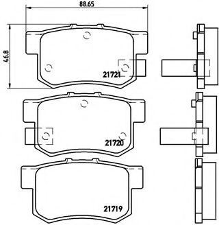 Тормозные колодки Brembo  арт. P28022