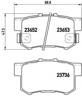 Тормозные колодки Brembo  арт. P28039