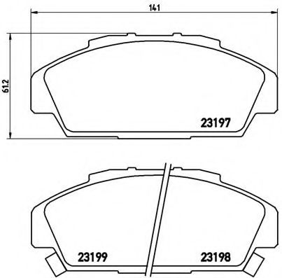 Тормозные колодки дисковые  арт. P28041