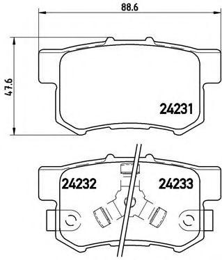 Тормозные колодки Brembo  арт. P28051