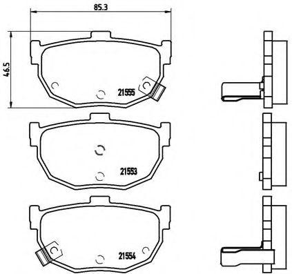 Тормозные колодки Brembo  арт. P30003