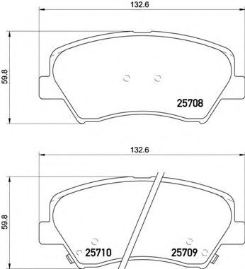 Тормозные колодки дисковые  арт. P30073