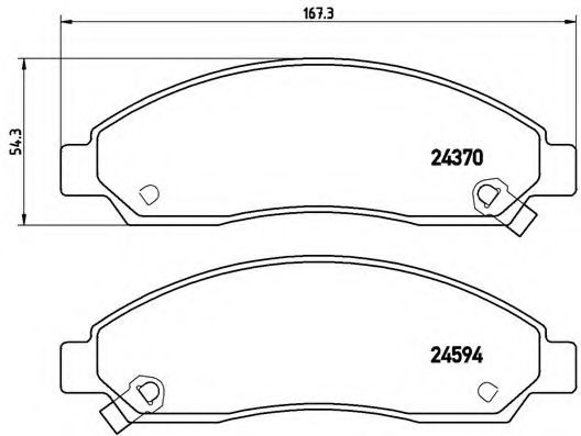 Тормозные колодки дисковые  арт. P34005