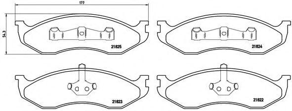 Тормозные колодки  дисковые, к-кт.  арт. P37004