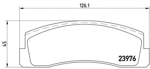 Тормозные колодки дисковые  арт. P41005