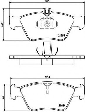 Тормозные колодки Brembo BREMBO P50023