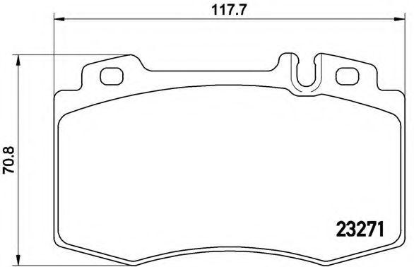 Тормозные колодки Brembo BREMBO P50041