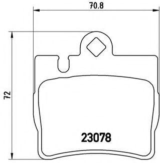 Тормозные колодки Brembo BREMBO P50042