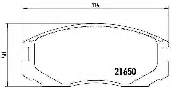 Тормозные колодки  дисковые, к-кт.  арт. P54015