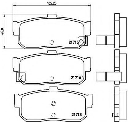 Тормозные колодки Brembo  арт. P56029