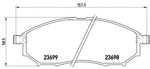 Тормозные колодки Brembo  арт. P56058