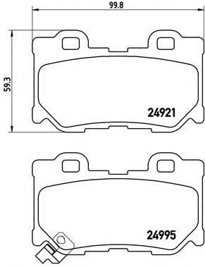Тормозные колодки Brembo  арт. P56085