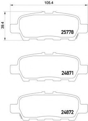 Тормозные колодки  дисковые, к-кт.  арт. P56087