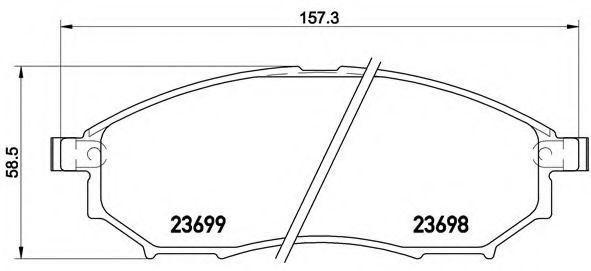 Тормозные колодки дисковые  арт. P56094