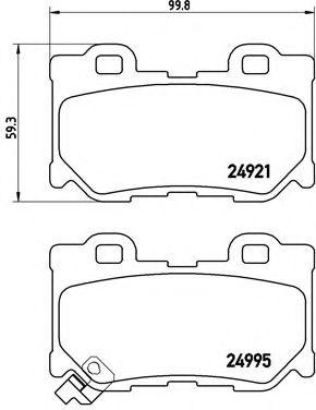 Колодки тормозные дисковые, к-кт.  арт. P56095