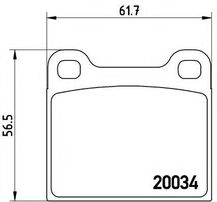 Тормозные колодки  дисковые, к-кт.  арт. P59001