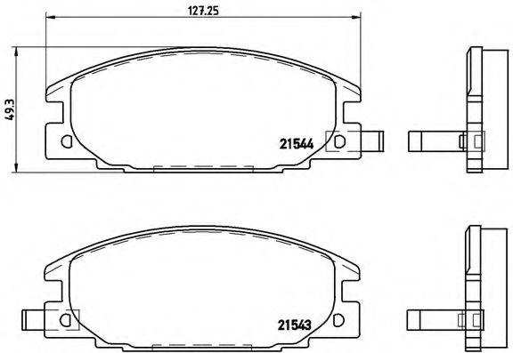 Комплект тормозных колодок, дисковый тормоз  арт. P59015