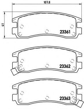 Тормозные колодки дисковые  арт. P59027