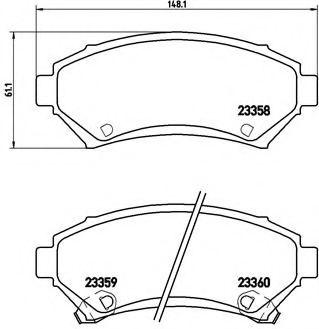 Тормозные колодки дисковые  арт. P59028