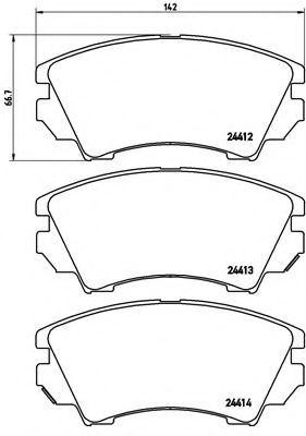 Тормозные колодки  дисковые, к-кт.  арт. P59055