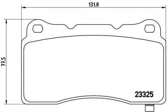 Тормозные колодки дисковые  арт. P59079