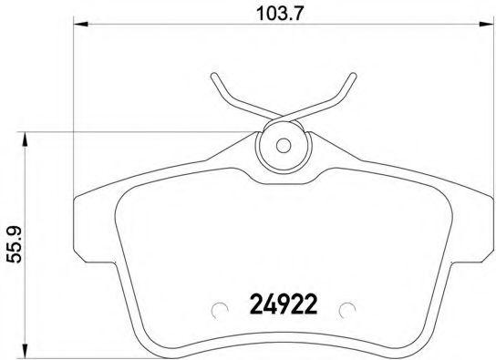 Гальмівні колодки диск.задні Citroen C4/DS4/DS5/Peugeot 308,3008,5008, RCZ 1.4HDi-2.0HDi 09-  BREMBO P61114