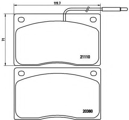 Тормозные колодки дисковые  арт. P68012