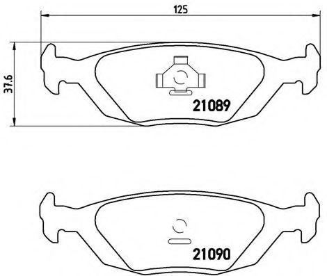 Комплект тормозных колодок, дисковый тормоз  арт. P71003