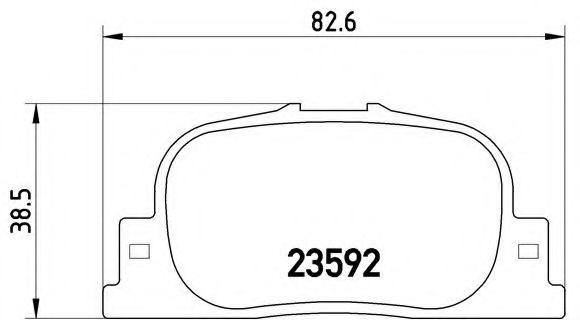 Тормозные колодки  дисковые, к-кт.  арт. P83063