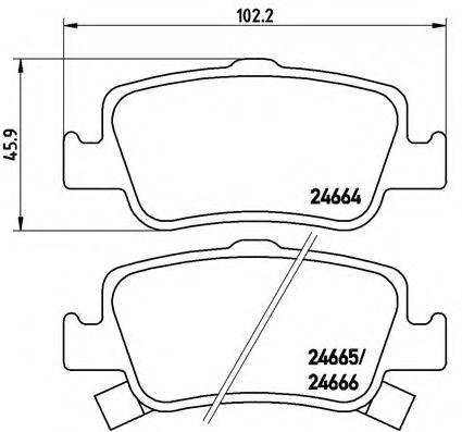 Тормозные колодки  дисковые, к-кт. BREMBO P83080