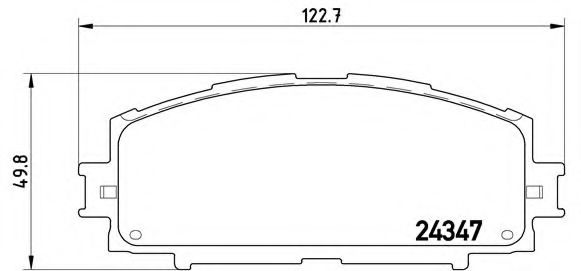 Тормозные колодки Brembo  арт. P83086