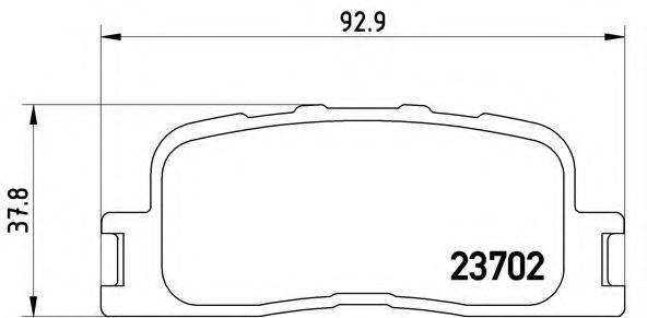 Тормозные колодки  дисковые, к-кт. BREMBO P83088