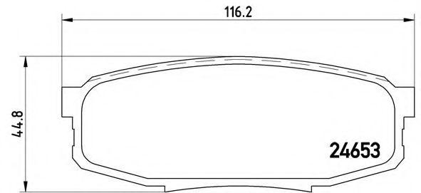 Тормозные колодки  дисковые, к-кт. BREMBO P83098