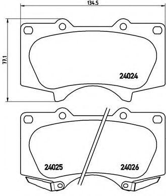 Тормозные колодки  дисковые, к-кт. BREMBO P83102
