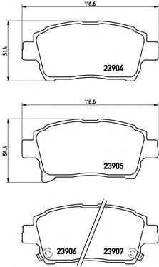 Тормозные колодки дисковые  арт. P83103