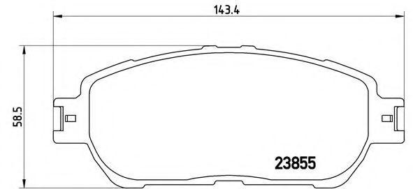Колодки гальмівні перед. Lexus ES300/330 02.09-06.03 Toyota Avalon,Camry,Sienna,Lexus 2.4-3.5 01- BREMBO P83105