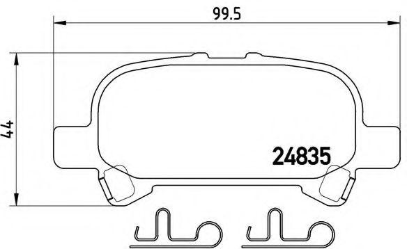Тормозные колодки  дисковые, к-кт. BREMBO P83110